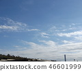 Blue sky and white cloud of inage coast 46601999