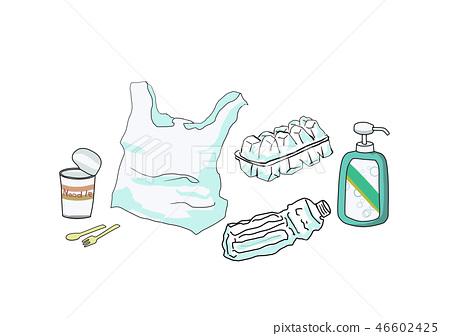 플라스틱 쓰레기 46602425