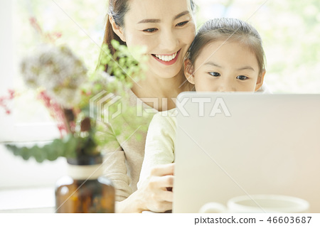 Family lifestyle personal computer 46603687