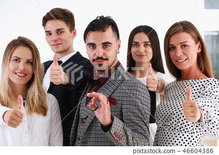 Teamwork business concept group people ok 46604386