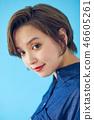 바로 가기의 여성 초상화 컬러 백 46605261