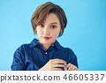 바로 가기의 여성 초상화 컬러 백 46605337