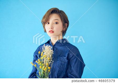 단축키 여성 꽃이있는 생활 컬러 백 46605379