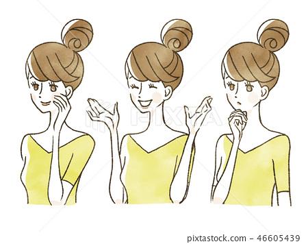 Woman - Facial expression 46605439