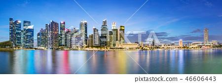 Singapore financial district skyline at Marina bay 46606443