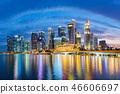 Singapore financial district skyline. 46606697