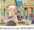 two-year child at playground 46609869