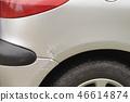 Small crush on vehicle body detail shot 46614874