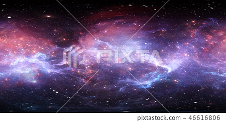 360 degree space nebula panorama 46616806