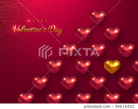 Valentines day holiday horizontal banner. 46616882