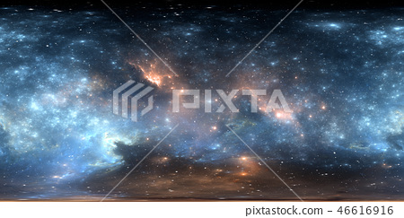 360 degree space nebula panorama 46616916