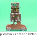 wooden children's machine carries gifts  46616945