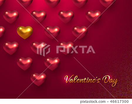 Valentines day holiday horizontal banner. 46617300