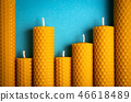 candles with wax honeycomb 46618489