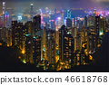 Hong Kong skyscrapers skyline cityscape view 46618768