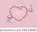 heart valentines garland 46619684
