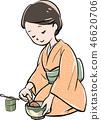 做茶的婦女 46620706