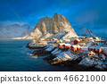Hamnoy fishing village on Lofoten Islands, Norway  46621000