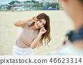 연인, 데이트, 커플, 여행, 여자, 남자, 카메라 46623314