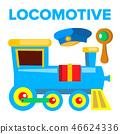 Locomotive Vector. Children Toy. Train Road Railway. Isolated Cartoon Illustration 46624336