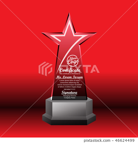 Crystal trophy certificate design template 46624499