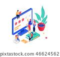 Company testimonials - modern colorful isometric vector illustration 46624562