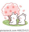 꽃놀이 북극곰 46625415