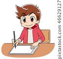 男孩平板電腦 46629127