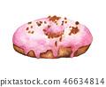 水彩畫 水彩 甜甜圈 46634814