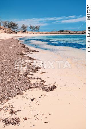 sand beach in Madagascar, Antsiranana 46637270