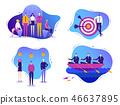 Vector set of business illustrations. Successful teamwork, international creative team, successful 46637895
