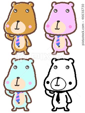 곰 팬시 동물 일러스트 46638730