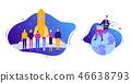 商业 商务 火箭 46638793