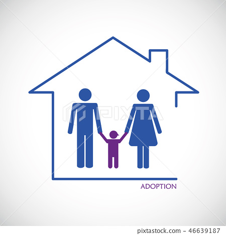 Man and woman adoption of a child 46639187