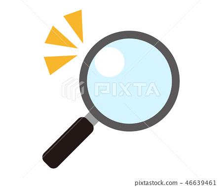 放大鏡放大鏡放大鏡矢量 46639461