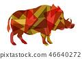 Boar vector colourful 46640272