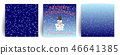 Set of Christmas Greeting cards with snowman. 46641385