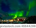 Northern Lights on the Norwegian Village 46644288