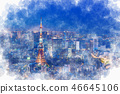 도쿄의 야경 풍경 46645106