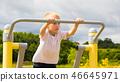 child, kid, stretching 46645971