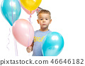 Full length portrait of cute little kid in stylish clothes 46646182