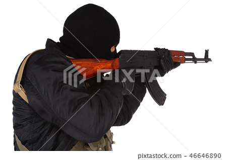 mobster with AK 47 46646890
