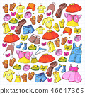 dress, kids, doodle 46647365
