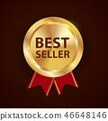 label, ribbon, badge 46648146