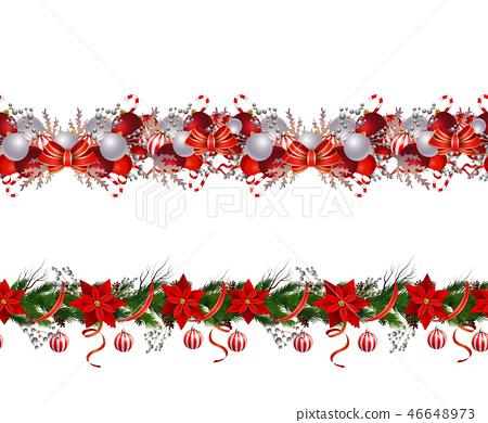 Set of n Seamless Christmas borders 46648973