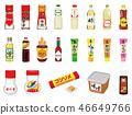 食品插圖[調味品,乳製品,豆製品,加工產品圖標集] 2 46649766