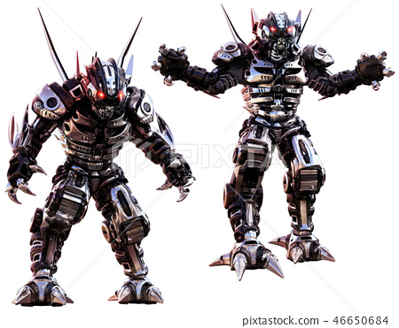Robots 3D illustration 46650684