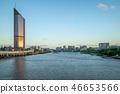 skyline of brisbane city by the brisbane river 46653566