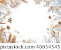 Christmas decoration border blank white background 46654545