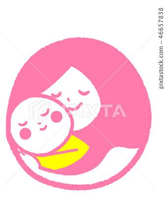 媽媽和寶寶 46657838
